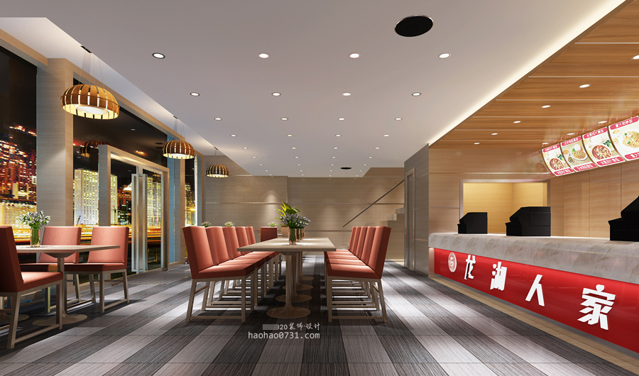 快餐连锁,快餐店效果图_黄畅装饰设计gis10.2面绘制中图片